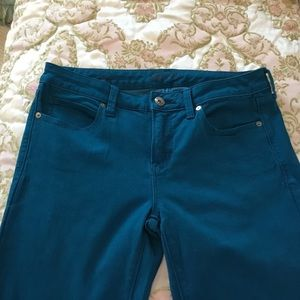 Teal Overdye Jeans